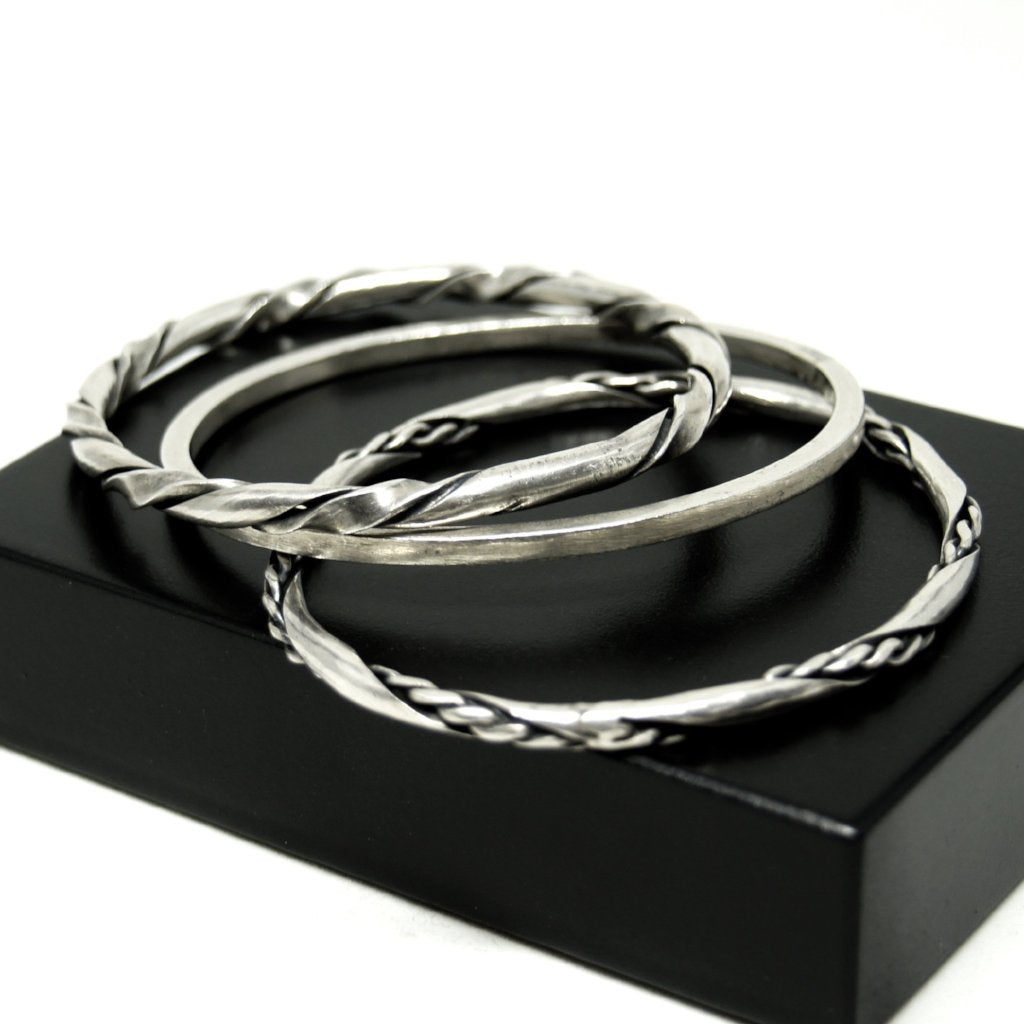 Maxwell Chayat Bangle Set - American Modernist - Sterling Silver