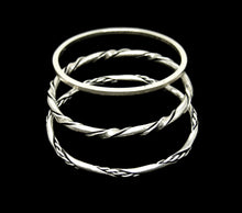 Load image into Gallery viewer, Maxwell Chayat Bangle Set - American Modernist - Sterling Silver