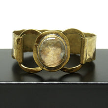 Rafael Canada Bracelet - Brass - Earthy Clear Glass