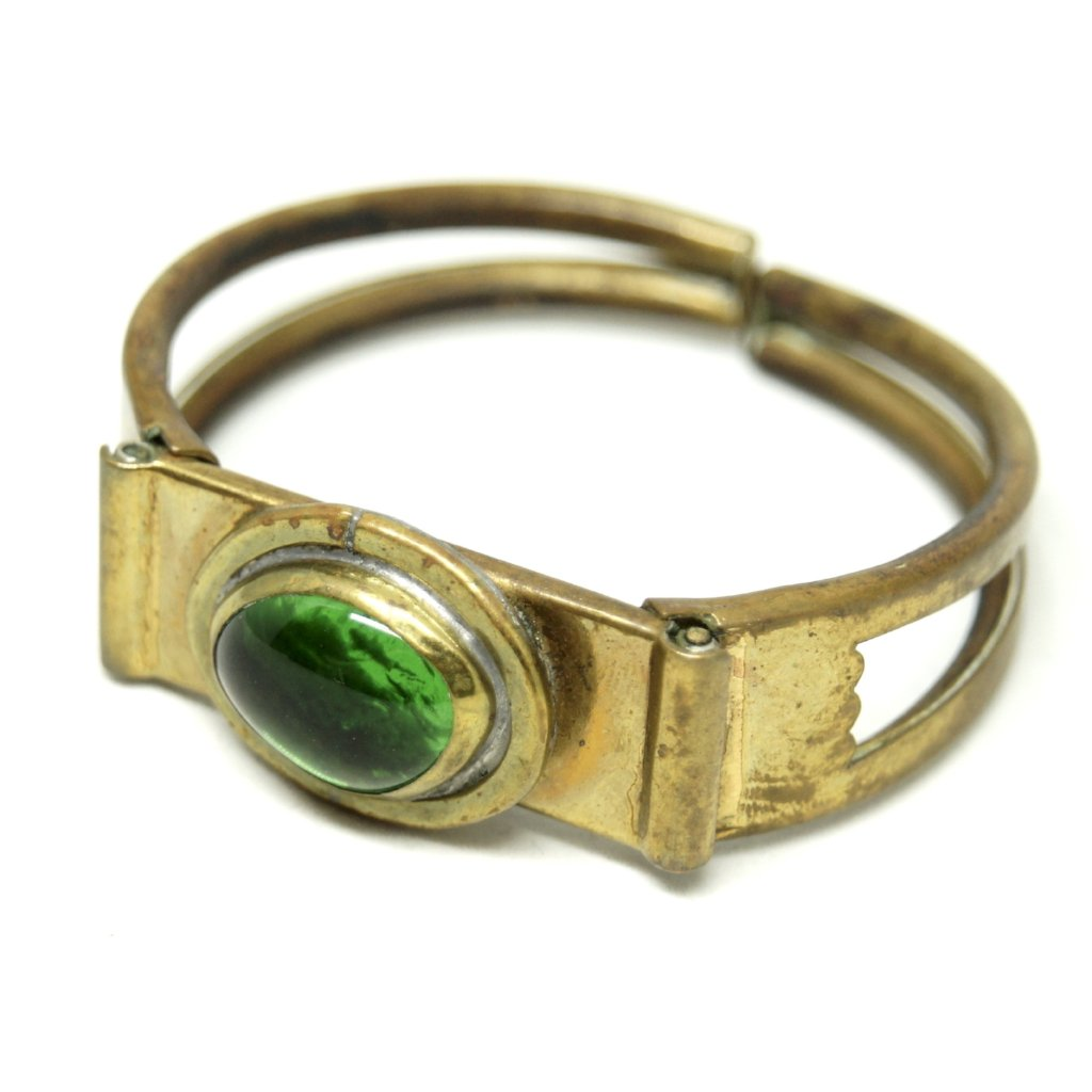 Rafael Canada Clamper Bracelet - Green Glass