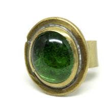 Load image into Gallery viewer, Rafael Alfandary Ring - Green Glass - Brass