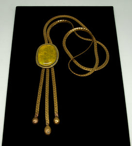 Rafael Canada Lariat Necklace - Yellow Glass - Kinetic