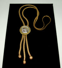 Load image into Gallery viewer, Rafael Canada Lariat Necklace - Mother of Pearl Glass - Kinetic