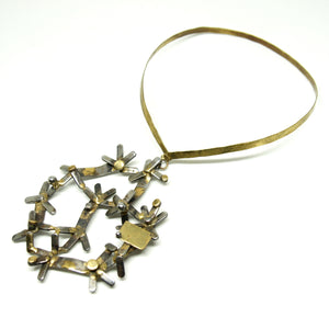 Massive Richard Bitterman Necklace - Brutalist Mixed Metals