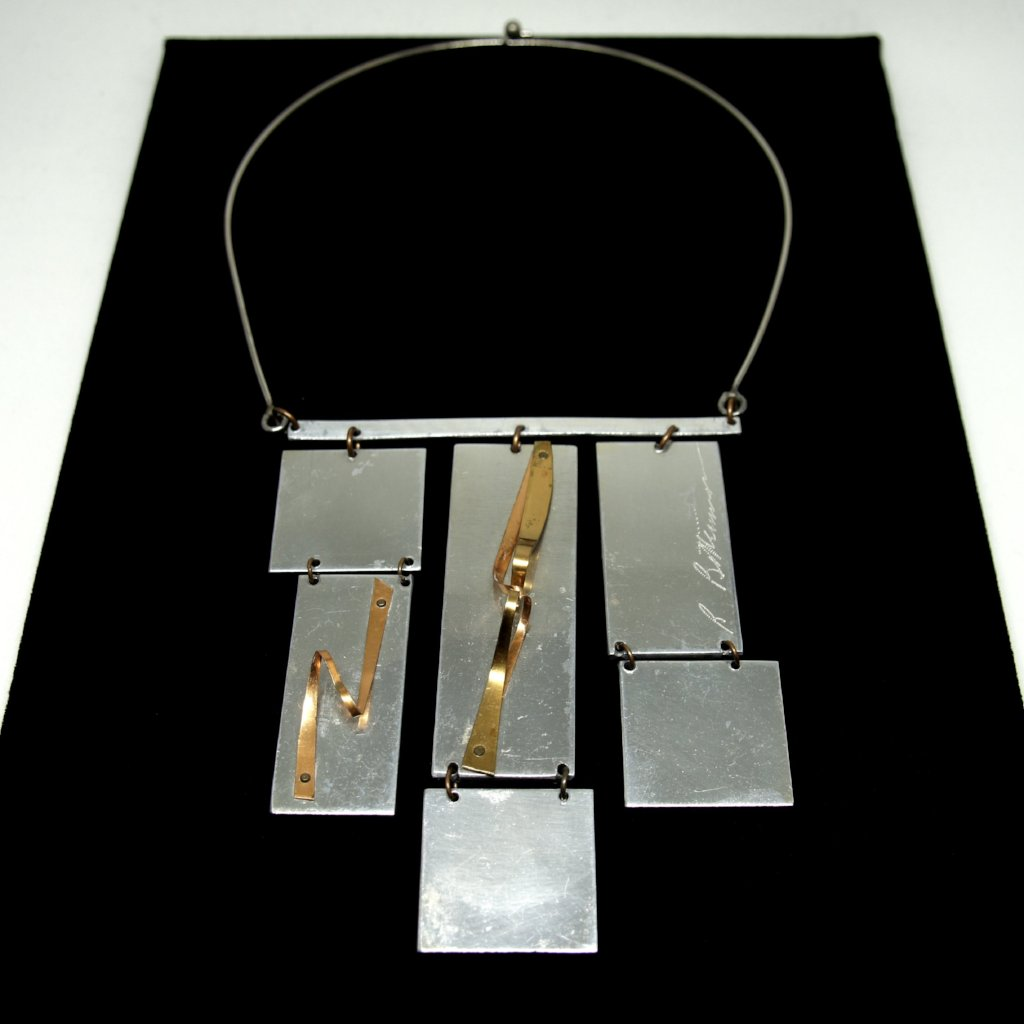 Rare Richard Bitterman Necklace - Post Modern - Mixed Metals