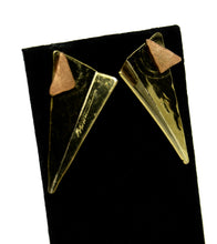 Load image into Gallery viewer, Triangular Richard Bitterman Earrings - Brutalist Mixed Metals