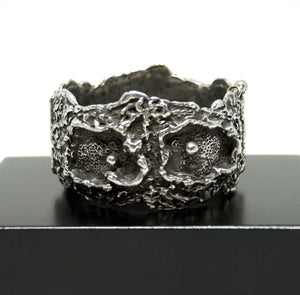 Guy Vidal Cuff Bracelet - Craters and Divots
