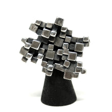 Guy Vidal Cubist Brooch - Modernist - Stacked Cubes