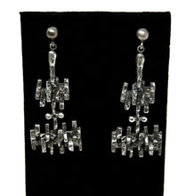 Guy Vidal Industrial Earrings - Modernist Brutalist