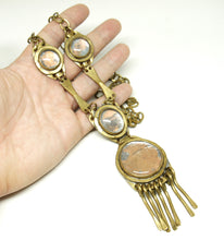 Load image into Gallery viewer, Rare Rafael Canada Necklace - Kinetic 4 Stone - Brass