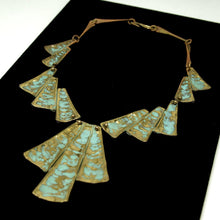 Joseph Boris Verdigris Necklace - Modernist