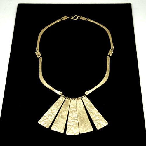 Early Anne Dick Necklace - Articulated Fringe - Modernist