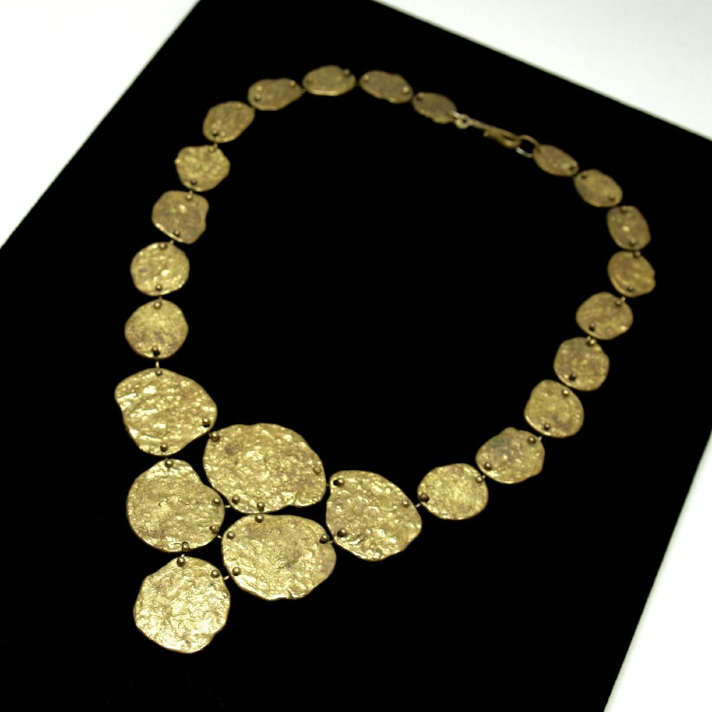 Early Anne Dick Necklace - Molten Bronze - Brutalist