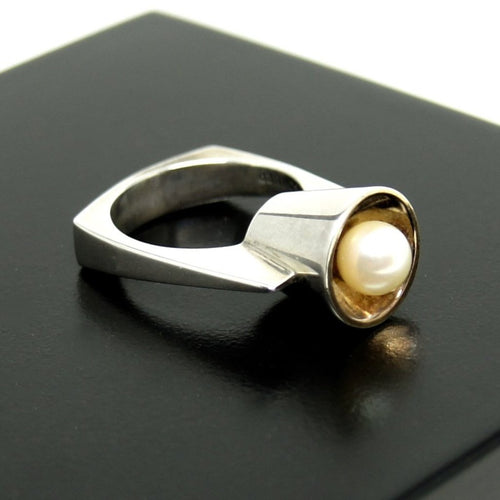 Rare Walter Schluep Pearl Ring - Quebec Modernist