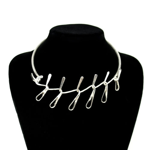 Art Smith Loop Necklace - Sterling Silver - American Modernist