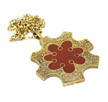 Load image into Gallery viewer, Bernard Chaudron Necklace - Double Sided Star Burst