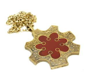 Bernard Chaudron Necklace - Double Sided Star Burst