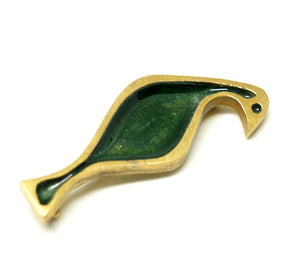 Bernard Chaudron Bird Brooch - Glass Enamel