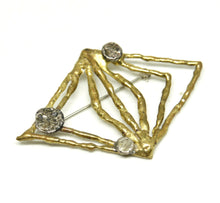 Early Anne Dick Brooch  - Molten Bronze - Mixed Metals
