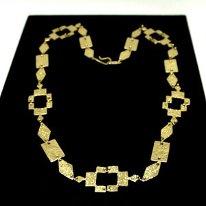 Anne Dick Geometric Chain Necklace - Bronze - Brutalist