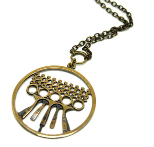 Pentti Sarpaneva Necklace - Patterns & Textures - Modernist Bronze