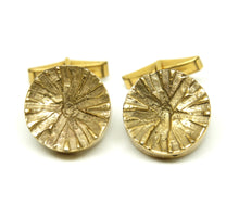 Load image into Gallery viewer, Bernard Chaudron Cufflinks - Circular Texture
