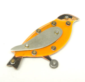 Rare Thomas Mann Bird Pin - Orange Oriole - Thechno Romantic