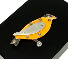 Load image into Gallery viewer, Rare Thomas Mann Bird Pin - Orange Oriole - Thechno Romantic