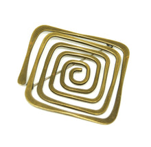 Load image into Gallery viewer, Ed Wiener Spiral Brooch - Bronze Modernist