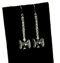 Load image into Gallery viewer, Guy Vidal Long Hammer Earrings - Modernist Brutalist - Silver