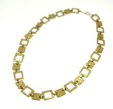 Anne Dick Geometric Necklace - Bronze Chain - Modernist