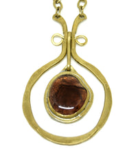 Load image into Gallery viewer, Rafael Canada Necklace - Kinetic - Earthy Purple Glass