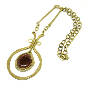 Rafael Canada Necklace - Kinetic - Earthy Purple Glass