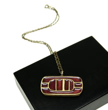 Bernard Chaudron Necklace - Lines - Burgundy