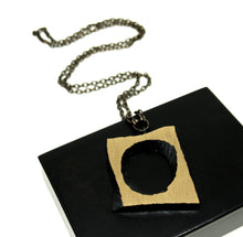 Load image into Gallery viewer, Karl Laine Geometric Necklace - Modernist Bronze- Original Box