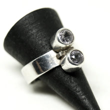 Load image into Gallery viewer, Elis Kauppi Ring - 2 Stone Smoky Quartz - Kupittaan Kulta - Size 7