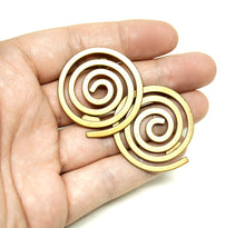 Load image into Gallery viewer, Martha Sturdy Spiral Earrings - Modernist Bronze