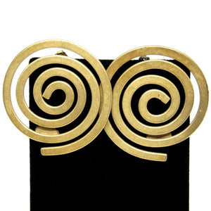 Martha Sturdy Spiral Earrings - Modernist Bronze