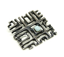 Load image into Gallery viewer, Bernard Chaudron Cubist Brooch - Grid