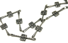 Rare Guy Vidal Chain Necklace - Textured Squares - Modernist Brutalist