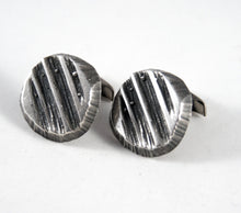 Load image into Gallery viewer, Rugged Sten & Laine Cufflinks - Sterling Silver - Brutalist