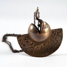 Load image into Gallery viewer, Rare Jane Wiberg Necklace - Large Brutalist Bronze