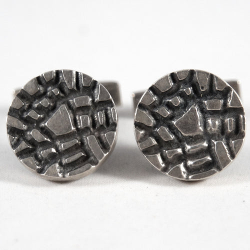 ON HOLD - Bernard Chaudron Sterling Cufflinks - Fractured Cubist