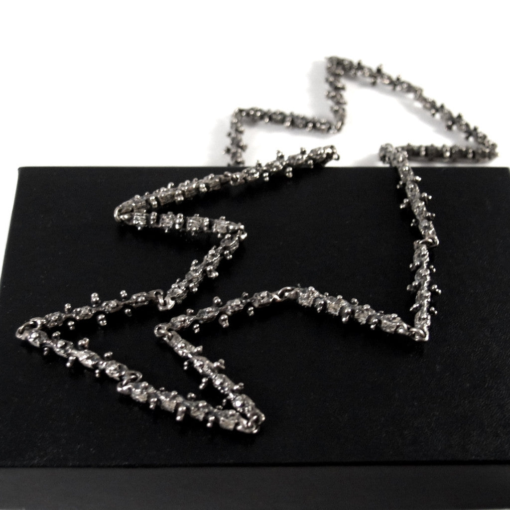 Guy Vidal Chain Necklace - Knobbly Links - Modernist Brutalist