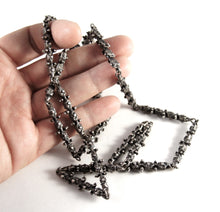 Load image into Gallery viewer, Guy Vidal Chain Necklace - Knobbly Links - Modernist Brutalist