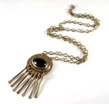 Rafael Canada Necklace Brass - Kinetic - Black Cabochon