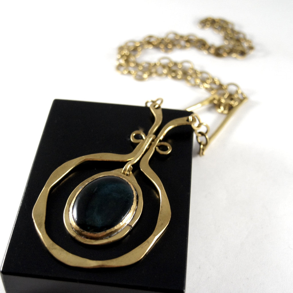 Rafael Canada Necklace - The Original in Brass and Teal
