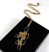 Bernard Chaudron Necklace - Bronze and Teal