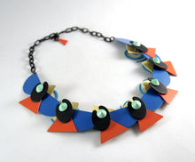 Rare Eve Kaplin Necklace - Reversible - Memphis Design