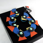 Load image into Gallery viewer, Rare Eve Kaplin Necklace - Reversible - Memphis Design